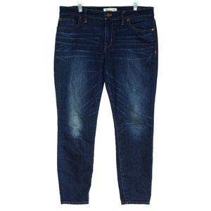 Madewell Womens Skinny Skinny Crop Blue Jeans 31